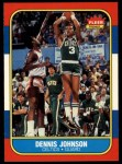 1986 Fleer #50  Dennis Johnson  Front Thumbnail