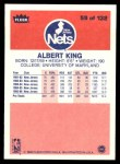 1986 Fleer #59  Albert King  Back Thumbnail
