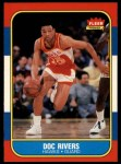 1986 Fleer #91  Doc Rivers  Front Thumbnail