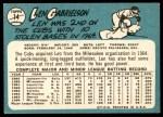 1965 Topps #14  Len Gabrielson  Back Thumbnail