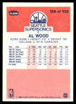 1986 Fleer #128  Al Wood  Back Thumbnail