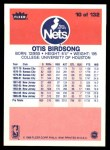 1986 Fleer #10  Otis Birdsong  Back Thumbnail