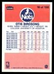 1986 Fleer #10  Otis Birdsong  Back Thumbnail