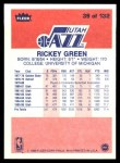 1986 Fleer #39  Rickey Green  Back Thumbnail