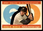 1960 Topps #565   -  Roger Maris All-Star Front Thumbnail