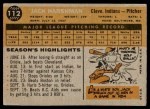 1960 Topps #112  Jack Harshman  Back Thumbnail