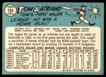 1965 Topps #124  Tom Satriano  Back Thumbnail