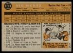 1960 Topps #111  Vic Wertz  Back Thumbnail