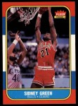 1986 Fleer #40  Sidney Green  Front Thumbnail