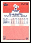 1986 Fleer #47  Craig Hodges  Back Thumbnail