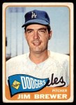 1965 Topps #416  Jim Brewer  Front Thumbnail