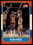 1986 Fleer #62  Allen Leavell  Front Thumbnail