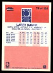 1986 Fleer #78  Larry Nance  Back Thumbnail