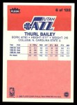 1986 Fleer #6  Thurl Bailey  Back Thumbnail