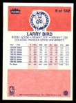 1986 Fleer #9  Larry Bird  Back Thumbnail