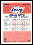 1986 Fleer #17  Michael Cooper  Back Thumbnail