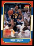 1986 Fleer #39  Rickey Green  Front Thumbnail