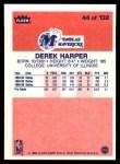 1986 Fleer #44  Derek Harper  Back Thumbnail