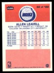 1986 Fleer #62  Allen Leavell  Back Thumbnail