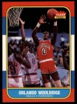 1986 Fleer #130  Orlando Woolridge  Front Thumbnail