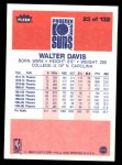 1986 Fleer #23  Walter Davis  Back Thumbnail