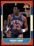 1986 Fleer #32  Patrick Ewing  Front Thumbnail