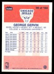 1986 Fleer #36  George Gervin  Back Thumbnail