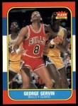 1986 Fleer #36  George Gervin  Front Thumbnail