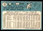 1965 Topps #190  Bill White  Back Thumbnail
