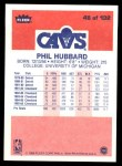 1986 Fleer #48  Phil Hubbard  Back Thumbnail