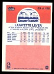1986 Fleer #63  Fat Lever  Back Thumbnail