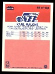 1986 Fleer #68  Karl Malone  Back Thumbnail