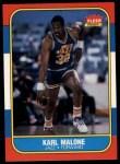 1986 Fleer #68  Karl Malone  Front Thumbnail