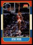 1986 Fleer #120  Spud Webb  Front Thumbnail