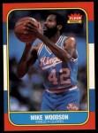 1986 Fleer #129  Mike Woodson  Front Thumbnail