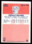 1986 Fleer #122  Gerald Wilkins  Back Thumbnail