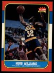 1986 Fleer #125  Herb Williams  Front Thumbnail