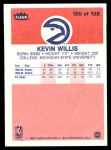 1986 Fleer #126  Kevin Willis  Back Thumbnail