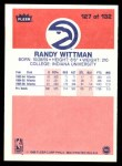 1986 Fleer #127  Randy Wittman  Back Thumbnail
