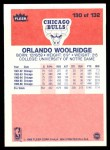 1986 Fleer #130  Orlando Woolridge  Back Thumbnail