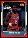 1986 Fleer #69  Moses Malone  Front Thumbnail