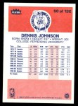 1986 Fleer #50  Dennis Johnson  Back Thumbnail
