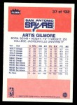 1986 Fleer #37  Artis Gilmore  Back Thumbnail