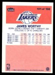 1986 Fleer #131  James Worthy  Back Thumbnail