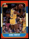 1986 Fleer #131  James Worthy  Front Thumbnail