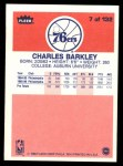 1986 Fleer #7  Charles Barkley  Back Thumbnail