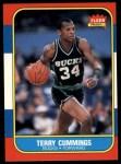 1986 Fleer #20  Terry Cummings  Front Thumbnail