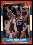 1986 Fleer #1  Kareem Abdul-Jabbar  Front Thumbnail