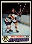 1977 Topps #234  Wayne Cashman  Front Thumbnail