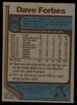 1977 Topps #143  Dave Forbes  Back Thumbnail